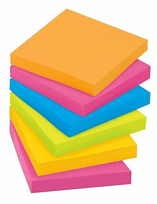 Post-it Super Sticky Notes 3 In X 3 In Assorted Bright Colors 90 Sheetspad