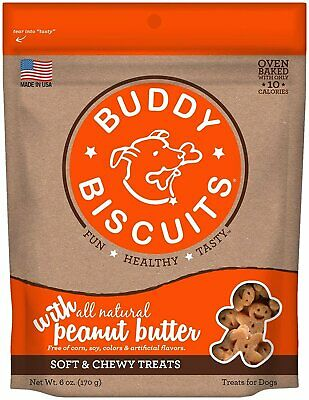 Cloud Star Buddy Biscuits Soft Chewy Dog Treats Peanut Butte