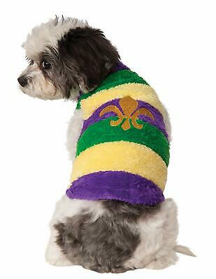 Mardis Gras Dog Costume - LARGE - New Orleans Saints - Purple Green Yellow - - Mardis Gras Kostüm