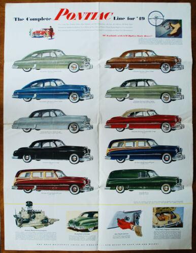 Pontiac full brochure Prospekt, 1949