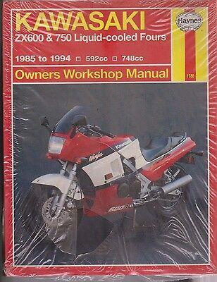 HAYNES 1780 Owners Repair Manual - Kawasaki 1985 - 94 ZX600 & 750 new
