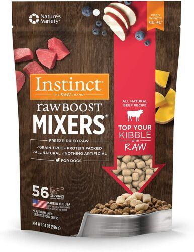 Instinct Freeze-Dried Raw Boost Mixers, Grain-Free Beef Dog Food Topper 14 oz