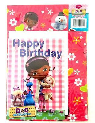 Disney Doc McStuffins Wrapping Paper - 1 sheet, 1 card and 1 tag Gift Wrap Set](Doc Mcstuffins Christmas Wrapping Paper)