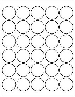 10 Sheets 300 Labels Round 1.5 Inch Circle Labels White Matte Finish