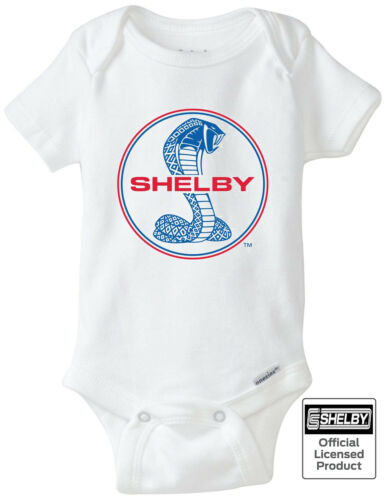 Shelby Cobra Blue & Red Logo Gerber Onesie - Authentic Licensed Product GT500