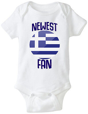 Greece Newest Fan Bodysuit Soccer Baby Outfit Mameluco Infant Girls - Greece Outfits