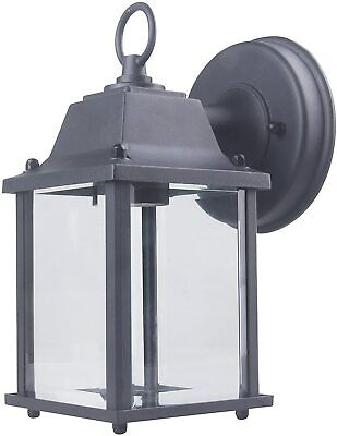 CORAMDEO Outdoor Wall Porch Light - Black Powdered Coat Cast Aluminum  Cast Aluminum Outdoor Lighting