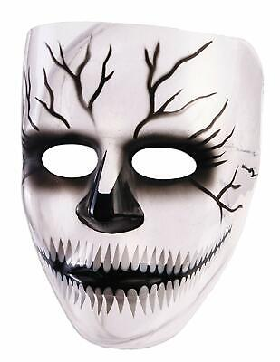 Transparent Halloween Mask (Transparent Skull Mask Skeleton Clear Fancy Dress Halloween Costume)