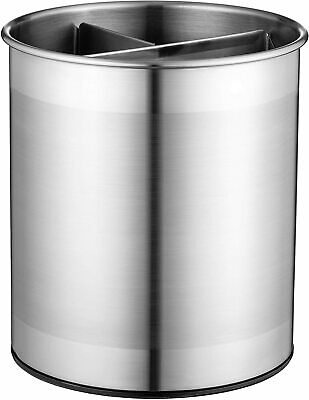 [NEW] Extra Large Stainless Steel Kitchen Utensil Holder - 360° Rotating