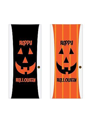 Halloween Door Cover - Double-Sided Decorative Halloween Theme Stretchable - Double Door Halloween Decorations