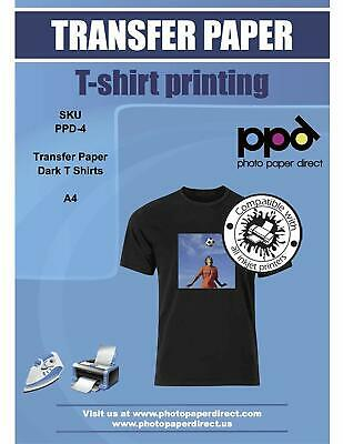 Ppd Inkjet Iron-on Dark T Shirt Transfer Paper 8.5x11 X 50 Ppd004-50