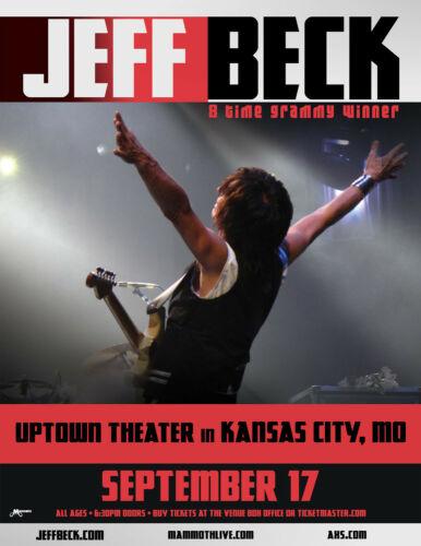 """JEFF BECK """"8 TIME GRAMMY WINNER"""" 2019 KANSAS CITY CONCERT TOUR POSTER-Blues Rock"""