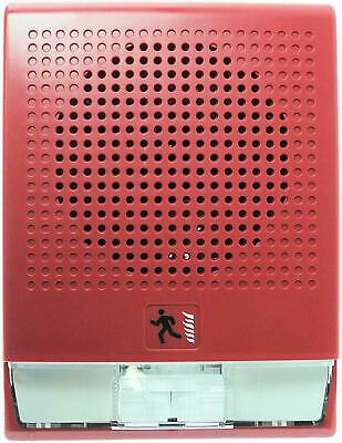 Edwards Fire Alarm Wall Speaker Strobe 70v Multi Candela Red