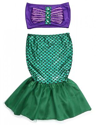 The Little Mermaid Tail Princess Ariel Dress Cosplay Costume Kids For Girl Fancy (Ariel Costume For Adults)