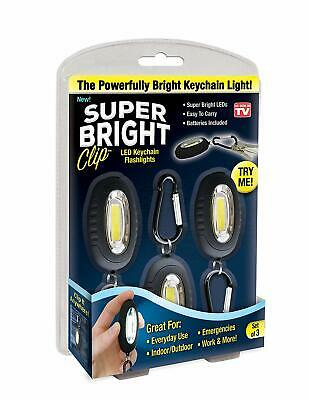 Super Bright Clip - LED Keychain Lights - 3 Pack- Black for sale  Shipping to India