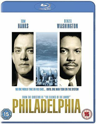 Philadelphia  1993   Denzel Washington   Tom Hanks  Blu Ray Brand New Free Ship