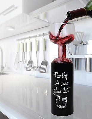 Cool Wedding Favors (Wholesale 12 - HALF BOTTLE  / HALF WINE GLASS - Cool Party Drinkware Glassware)