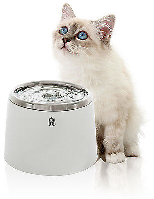 Catit - Trinkbrunnen 2 Liter für Katzen und kleine Hunde mit Edelstahl-Einsatz