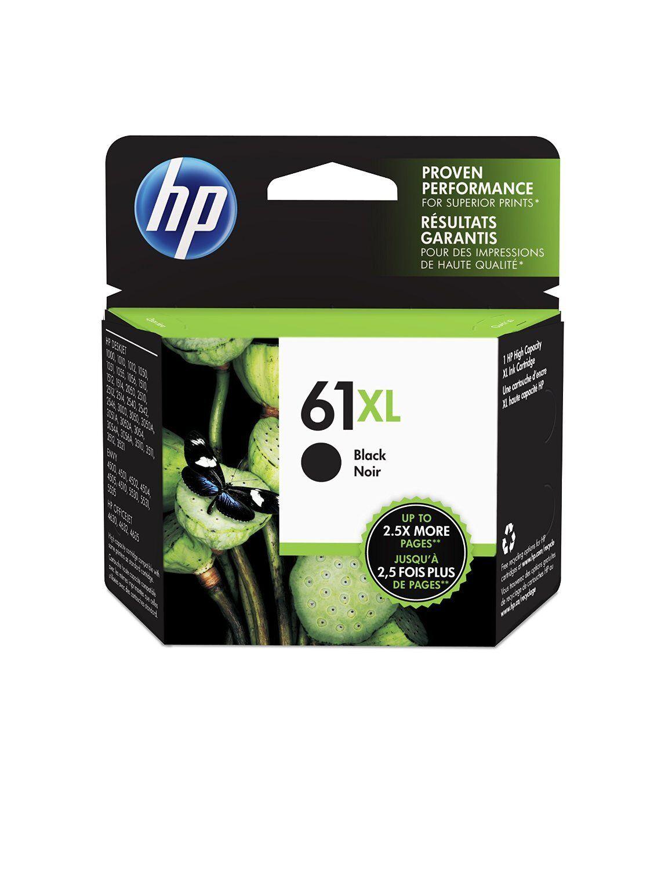 HP 61xl Black (ch563wn) High Yield Ink Cartridge, In Reta...