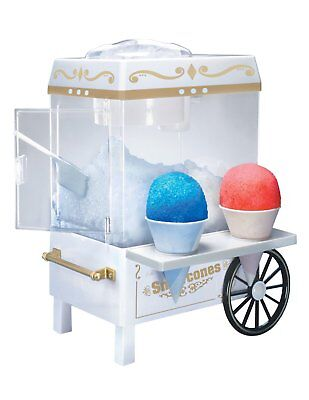 Snow Cone Maker Electric Machine Ice Sno Shaver Crusher Shaved Nostalgia Cart
