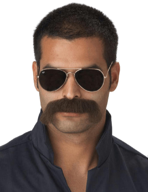 Faux Faux Noire Bouc Moustache Barbe STICK FACIAL cheveux Déguisements