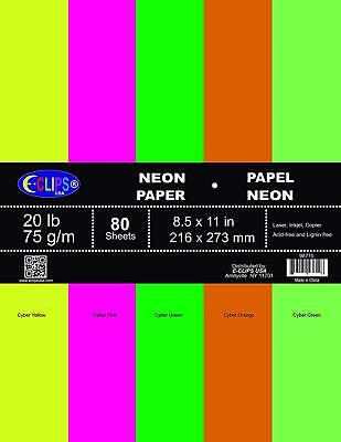 Multi-purpose Paper 80 Sheets Neon Colors Case Pack Of 36