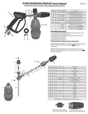 MTM Hydro Professional Premium 28 Special Stainless Spray Gun & Foam Cannon Kit