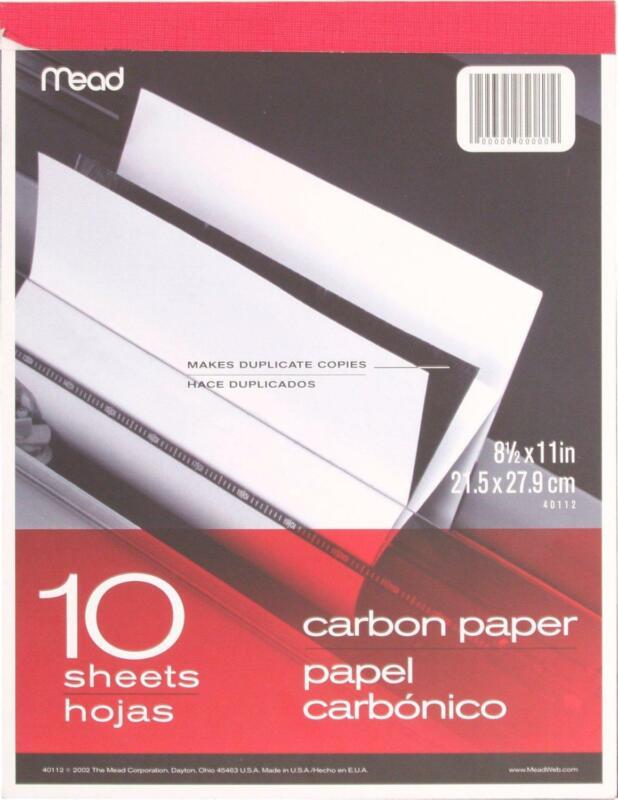 "Mead 40112 - Carbon Paper Tablet - 8.5"" x 11"" (10 Sheets)"