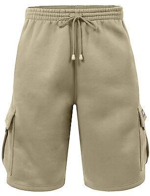 NE PEOPLE Mens Comfy Baggy Fleece Cargo Sweat Shorts with ...