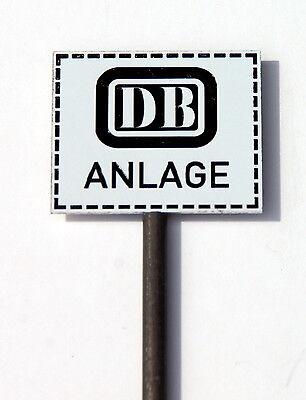 DB Anlage - 2 Schilder aus Metall für Spur G  Text lesen