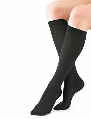 NEO G Travel & Flight Compression Socks- X-LARGE- Black-Medical Grade True HELP