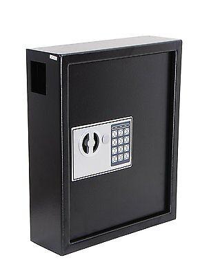 Adiroffice Black Secure 40 Key Cabinet With Digital Lock - Holds 40 Keys