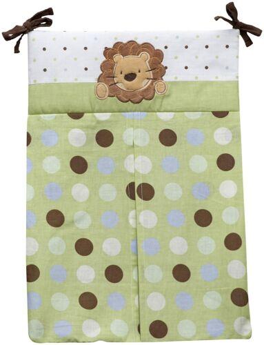NoJo Jungle Pals Diaper Stacker Lion Polka Dot