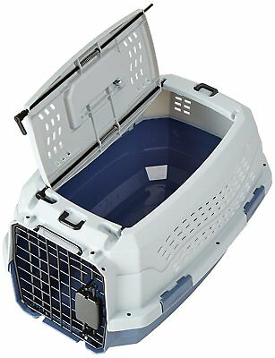 Pet Kennel Two Door Top Load Travel Crate Dog Cat Pet Carrier Box Tray 23 Inch