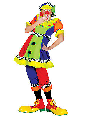 Clown Costume Ladies 2 Pc Colorful Dress With Bloomers Quality Clown Costume MD](Halloween Costumes With Pants)