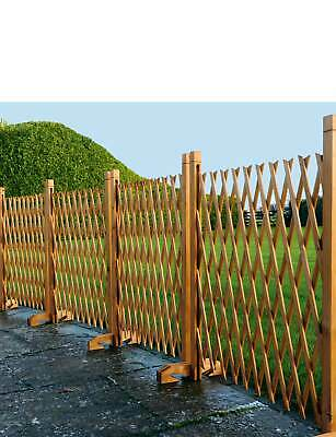 4 Expanding Fence Trellis Pack of 4 Garden Screening freestanding Wooden Divider