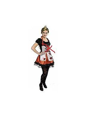 Herzkönigin Kostüm 36-42 2. Wahl Kartenkostüm Herz Dame Wunderland 12952013