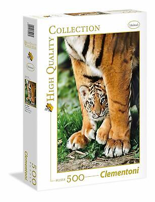 Clementoni High Quality Puzzle 500 pièces Tigre du Bengale et son bébé 35046