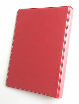 Linco Little 3-ring Red View-binders 8-12 X 5-12 Sheet Size 1-inch Round 4pk