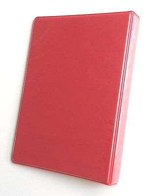 Linco Little 3-ring Red View-binder 8-12 X 5-12 Sheet Size 12-inch Round