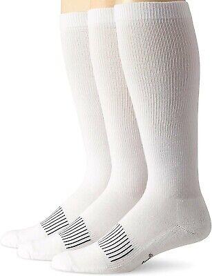 Wrangler Men's 179942 Western Boot Crew Socks White Size L Western Boot Socks