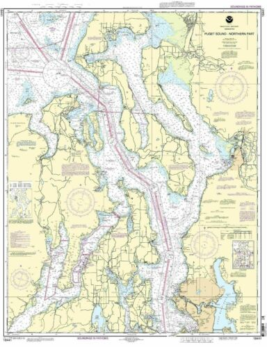 NOAA Chart Puget Sound-northern part 47th Edition 18441