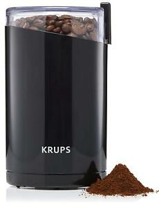 NEW! KRUPS Electric Coffee Grinder, Spice Grinder, Stainless Steel Blades, Black