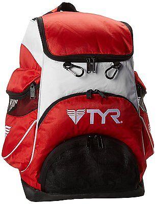 TYR Alliance Team Backpack II Swimming Bag - White/ Red