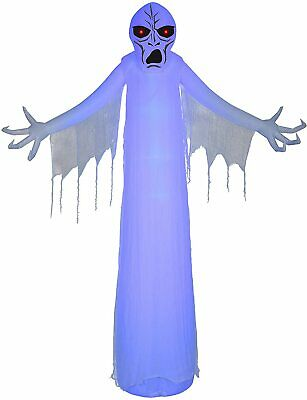 12' Gemmy Airblown Inflatable Halloween LightShow Short Circuit Ghostly Ghoul