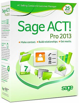 Sage Act  Act Pro 2013 Actpro2013l Retail Full   1 User   3 Activations