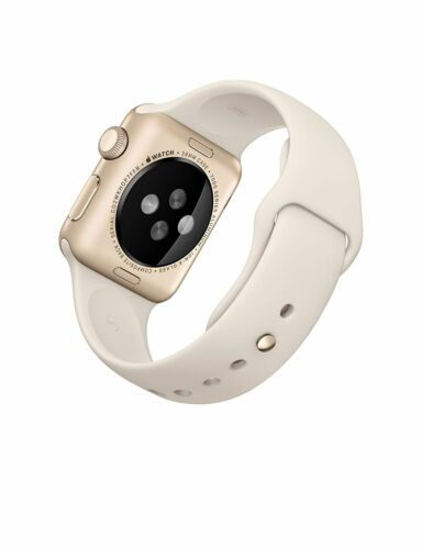 Apple Apple Apple Watch Sport (first-generation) 38mm Gold Aluminum Case Antique White Sport Band Antique White Sport Band MLCJ2LL/A