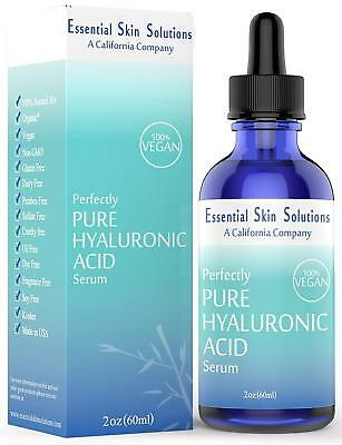 Hyaluronic Acid Serum - Hydrating Face Moisturizer for Glowing Skin - 2 Oz