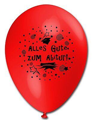 10 Luftballons Abitur, bunt sortiert, ca. 30 cm - Ballons Abi Luftballons Abi
