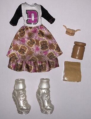 Monster High School Spirit Draculaura Doll Outfit Clothes Dress Shoes NEW - School Spirit Outfits